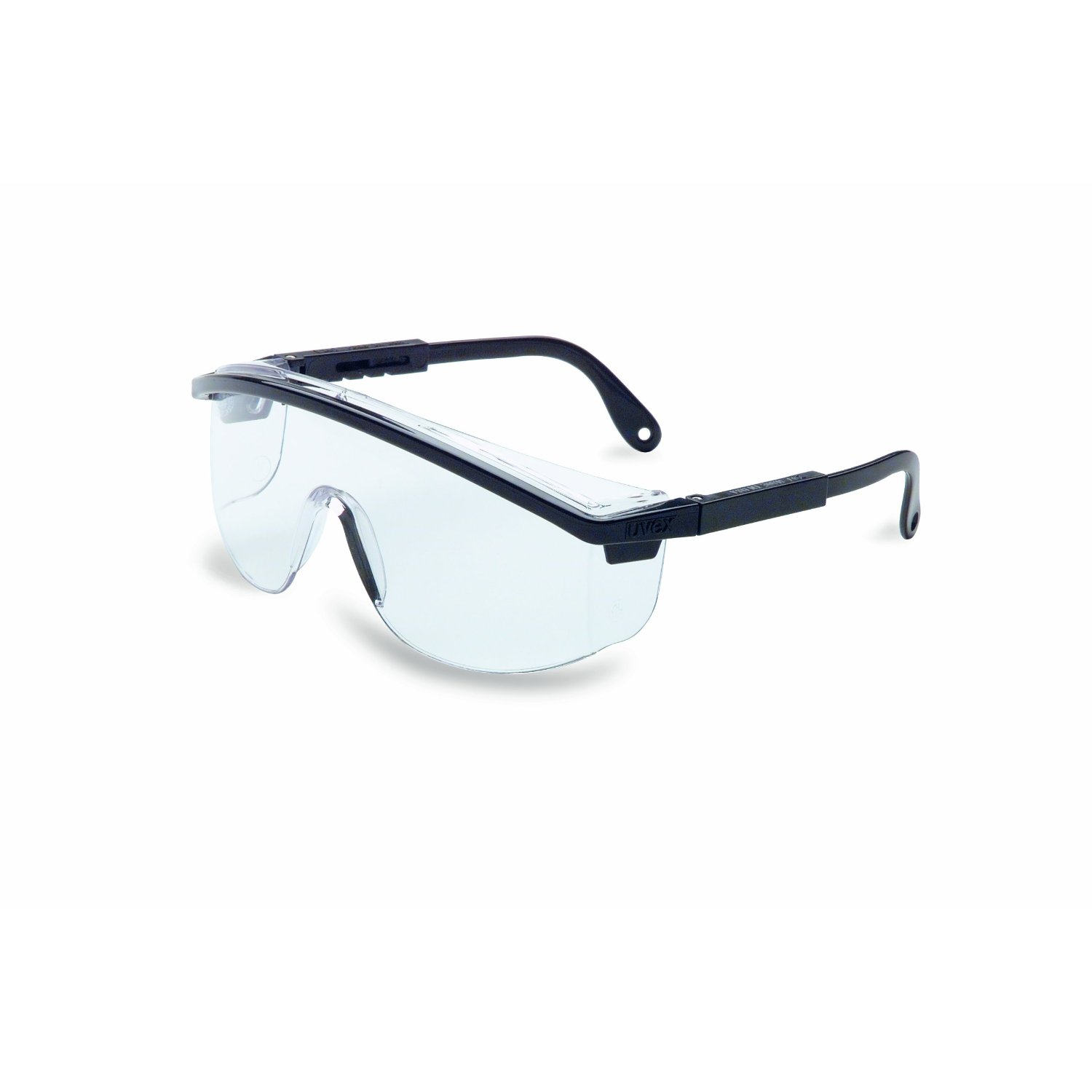 Uvex S135C Astrospec 3000 Safety Eyewear, Black Frame, Clear UV Extreme Anti-...