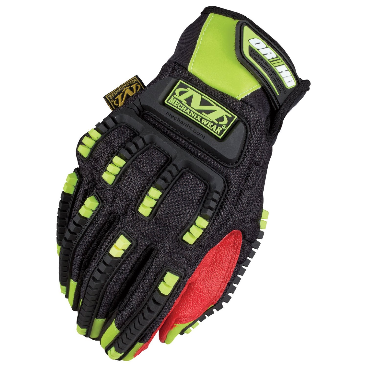 Mechanix Wear SHD-91-011 Safety Mpact ORHD Hi-Viz Gloves, Yellow, XLarge
