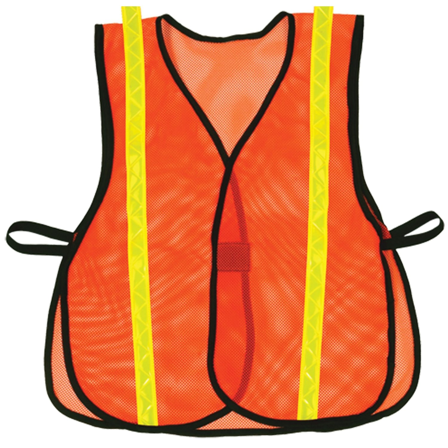 OK-1 955 Hook and Loop Style Orange Safety Vest with Lime Reflective, 4/5XL