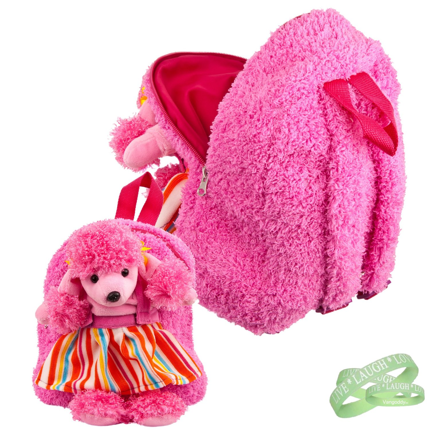 Hot Pink Poodle 11inch Raver Backpack for Nocturnal, TAO Together As One and ...