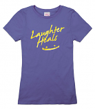 Laughter Heals Smiley Tee - Royal Blue