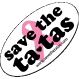 "GIANT Save the Ta-Tas Sticker - 24"" x 14"""