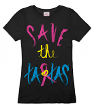 Save the ta-tas Punk Tee - Black