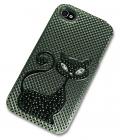iPhone 4 Case with 3D Black Cat