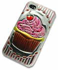 iPhone 4 Case with 3D Cupcake