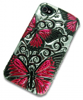 iPhone 4 Case with 3D Pink Butterflie