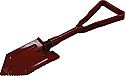 Red Foldable Shovel