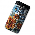 iPhone 4/4S Case with 3D Orange Florals
