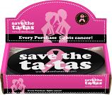 Save the ta-tas Bumper Magnet - Black - 48 pack