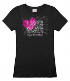 I Love My Big ta-tas Tee - Black